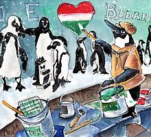 The Penguins From Budapest by Goodaboom