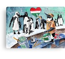 The Penguins From Budapest Canvas Print
