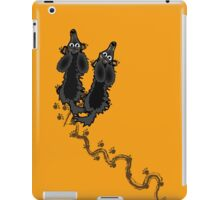 Walked on by Long Haired dachshunds iPad Case/Skin