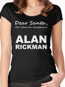 Dear Santa3 Women's Fitted Scoop T-Shirt