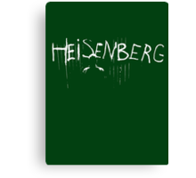 My name is Heisenberg - Graffiti Spray Paint Breaking Bad Canvas Print