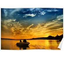 Twilight Boating Poster