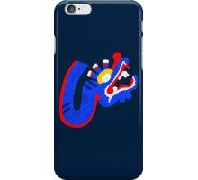 Aztec blue dragon iPhone Case/Skin