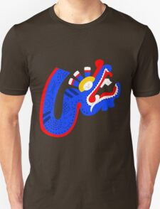 Aztec blue dragon T-Shirt