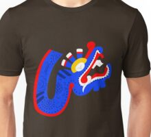 Aztec blue dragon Unisex T-Shirt