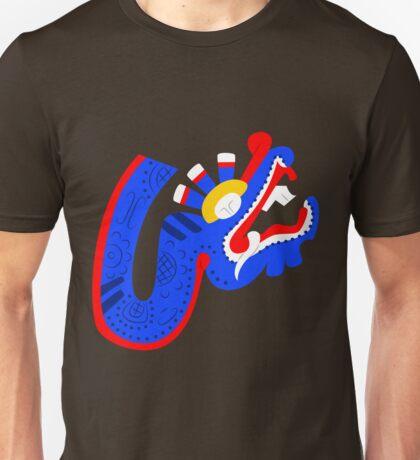 Aztec blue dragon Unisex T-Shirt