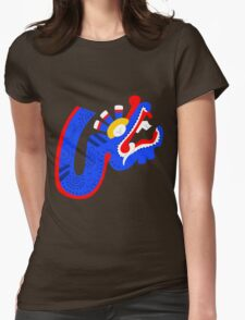Aztec blue dragon Womens Fitted T-Shirt