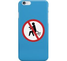 NO Farting Sign iPhone Case/Skin