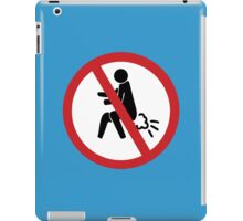 NO Farting Sign iPad Case/Skin