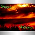 Happy Holidays Sunrise (holiday card) by TerriRiver