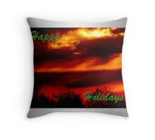 Happy Holidays Sunrise (holiday card) Throw Pillow
