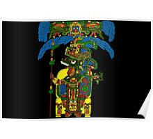 Great Mayan ruler of Tikal on his throne Poster