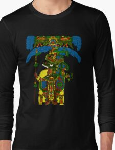 Great Mayan ruler of Tikal on his throne Long Sleeve T-Shirt