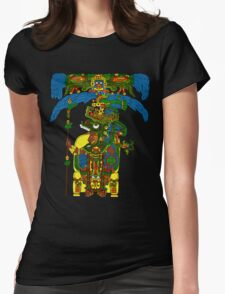 Great Mayan ruler of Tikal on his throne Womens Fitted T-Shirt