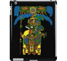 Great Mayan ruler of Tikal on his throne iPad Case/Skin