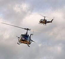 Bell UH-1 Iroquois Helicopters - (A Pair of Hueys) by © Steve H Clark