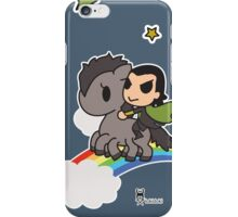 Loki in the Sky with Rainbows iPhone Case/Skin