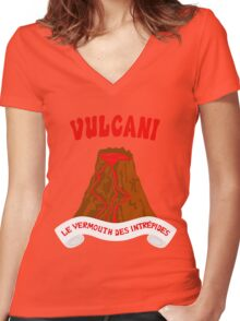 Vulcani - Le vermouth des intrepides Women's Fitted V-Neck T-Shirt