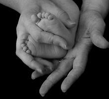 Holding Feet by FingerPrint