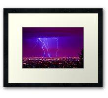 Lightning over Adelaide Framed Print