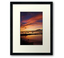 Sunset, Store Bay Framed Print