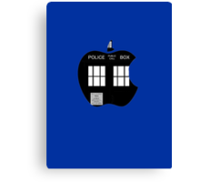 Dr Who-Apple Canvas Print