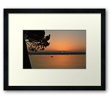 """ Sunset On A Tranquil Harbour "" Framed Print"