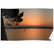 """ Sunset On A Tranquil Harbour "" Poster"