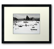 SNOW SCENE 3 Framed Print