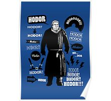 Hodor Famous Quotes Poster