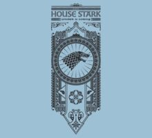 House Stark (Black) Kids Clothes