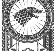 House Stark (Black) Sticker