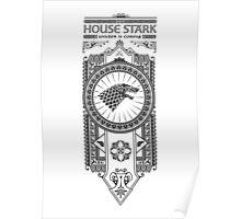 House Stark (Black) Poster