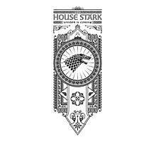 House Stark (Black) Photographic Print