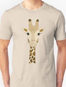 Golden Glitter Giraffe Unisex T-Shirt