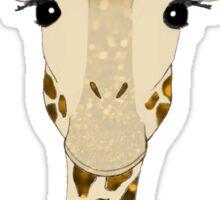 Golden Glitter Giraffe Sticker