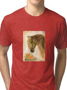 Greeting A Sunflower Tri-blend T-Shirt