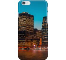 Manhattan at night iPhone Case/Skin