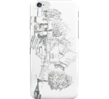 Milford Duck Pond Quick Sketch iPhone Case/Skin