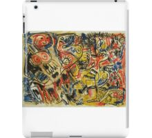 Oil Pastel Red, Yellow, Blue and Black Image iPad Case/Skin