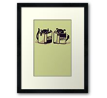 I'm more of a dog person Framed Print