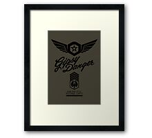 Gipsy Danger (Black) Framed Print