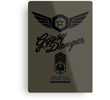 Gipsy Danger (Black) Metal Print