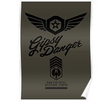 Gipsy Danger (Black) Poster