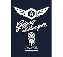 Gipsy Danger (White) Photographic Print