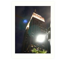 New York Light Flares Art Print