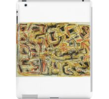 Oil Pastel Red, Yellow, Blue and Black Pattern  iPad Case/Skin