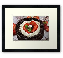 Black, White, Red.... Delicious Framed Print