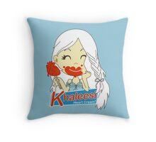 Khaleesi Heart Cream! Throw Pillow