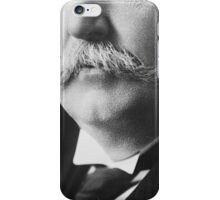 Extreme closeup of William Howard Taft's face iPhone Case/Skin